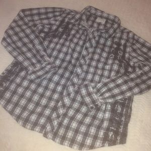 Sweet by Miss Me Women's Checkered Flannel Top